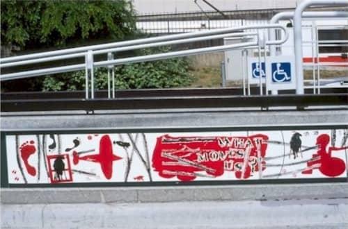 Public Mosaics by Josefa Vaughan at Ocean Ave & Jules Ave, San Francisco - What Moves Us?