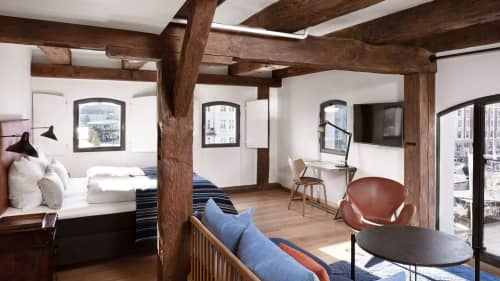 Tables by Dennis Marquart seen at 71 Nyhavn Hotel, København K - Deck Table