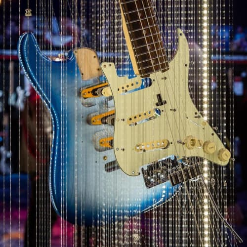 Stratocaster   Sculptures by John A. Peralta   Fender Hollywood in Los Angeles