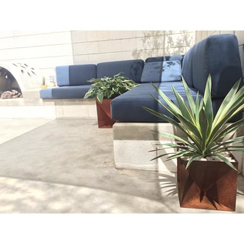 Origami Planters | Furniture by Trey Jones Studio | Ace Hotel & Swim Club in Palm Springs