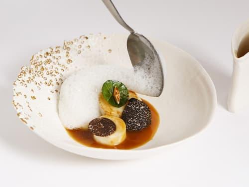 Tableware by Isabelle Poupinel seen at Restaurant Sylvestre, Paris - Foam