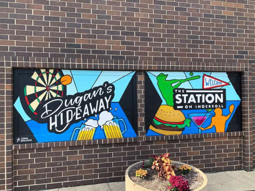 The Station on Ingersoll Mural   Street Murals by Jenna Brownlee