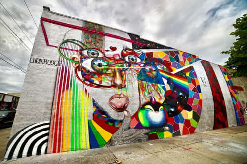 VI SINS   Street Murals by Chor Boogie   St Nicholas Ave. Murals in New York