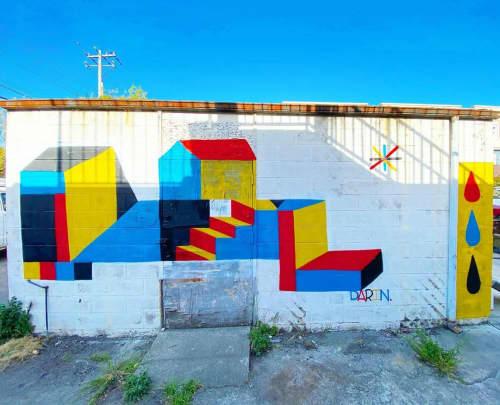Geometric Mural | Street Murals by Darin
