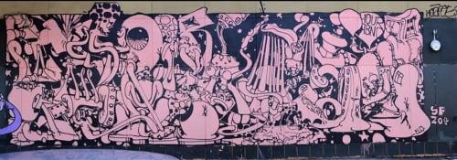 Street Murals by Antwan Horfee seen at Folsom Street, San Francisco, San Francisco - No Escape 1