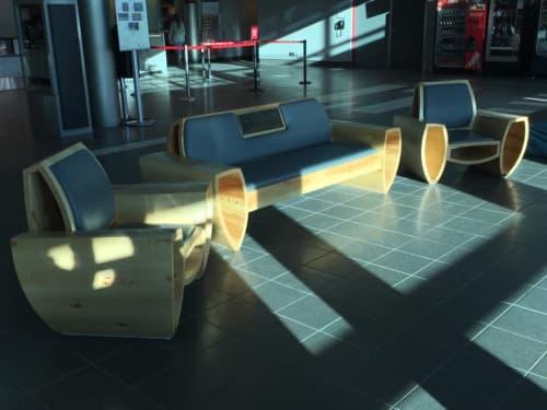 Chairs by Nathan Kushner - Industrial Craftsman at Thunder Bay International Airport, Thunder Bay - Thunder Bay Airport Lounge Chair