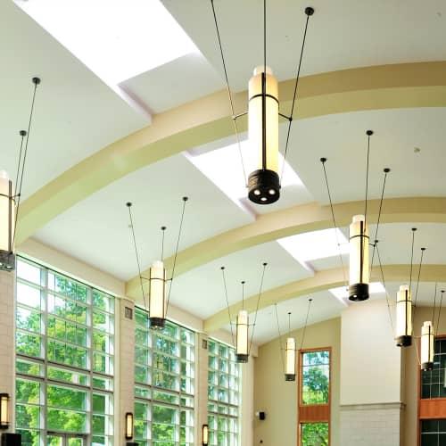 Tri-stem Pendants   Pendants by ILEX Architectural Lighting   Vanderbilt University in Nashville