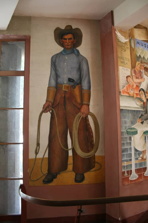 Cowboy | Murals by Clifford Wight | Coit Tower in San Francisco