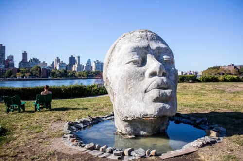 Take Me With You, 2017 | Public Sculptures by Tanda Francis | Socrates Sculpture Park in Queens