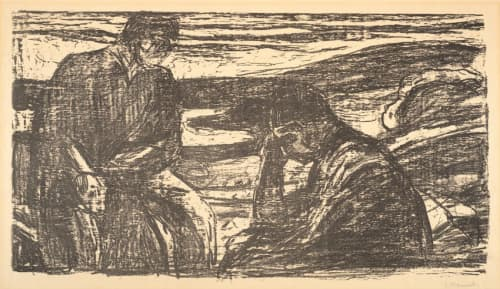 Evening, Melancholy on the Beach | Paintings by Edvard Munch | San Francisco Museum of Modern Art - SFMOMA in San Francisco