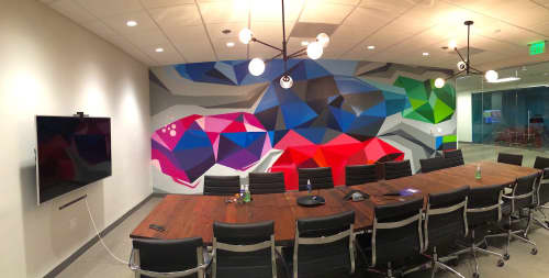 Conference Room Mural | Murals by Rye Quartz | LeEco in San Jose