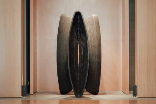 Sculptures by Rod Mireau seen at Teahouse Condos, Toronto - Wooden Sculptures