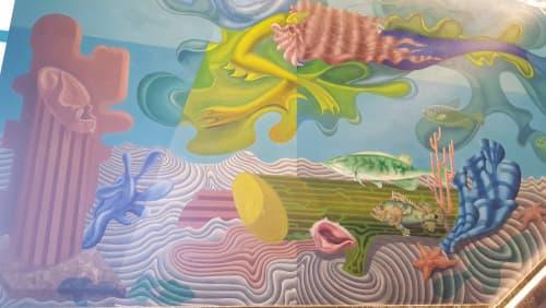 Murals by Hilaire Hiler seen at Maritime Museum, San Francisco - Atlantis and Mu