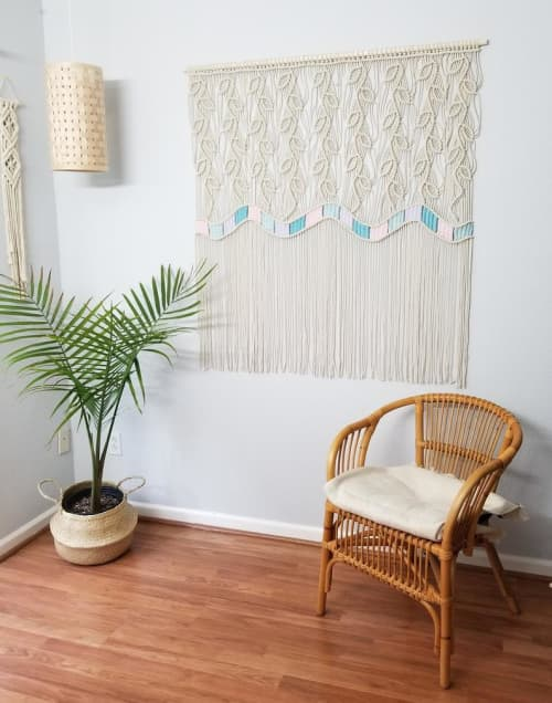 Macrame Wall Hanging by YASHI DESIGNS seen at Private Residence, Milpitas - Unique Macrame Wall Hanging- PASTEL