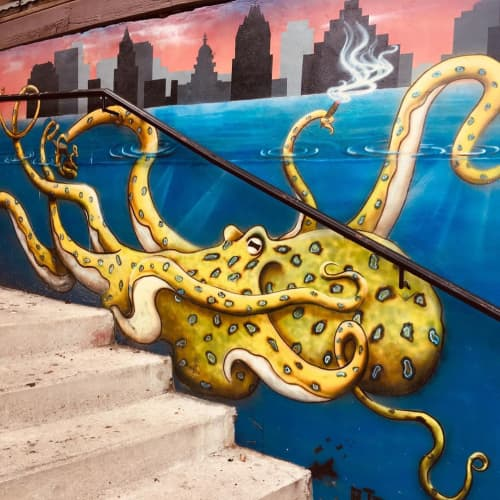 Street Murals by Véro The Traveling Artist - The Octopus
