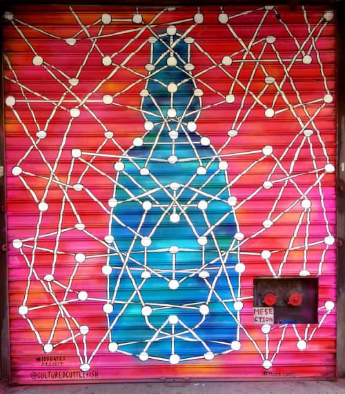 Street Murals by Jana Liptak seen at 135 Division Street, Manhattan, New York - System #6