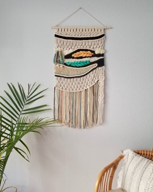 Macrame Wall Hanging by YASHI DESIGNS seen at Private Residence, Lisle - Macra-weave Landscape