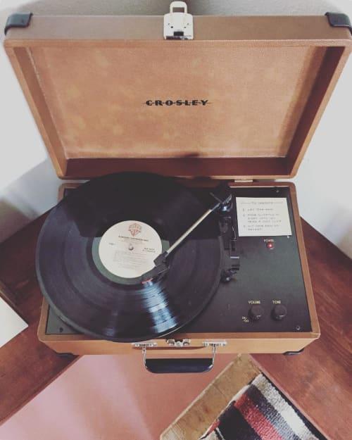 Crosley X UO Keepsake Wood Portable USB Vinyl Record Player | Appliances by Crosley | The Joshua Tree Casita in Joshua Tree