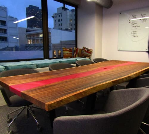 Tables by Aspens Woodworks seen at Movable Ink, San Francisco - Conference Table