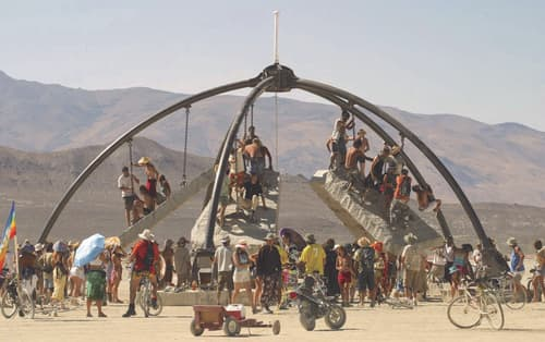 Sculptures by Zachary Coffin at Burning Man - Temple of Gravity