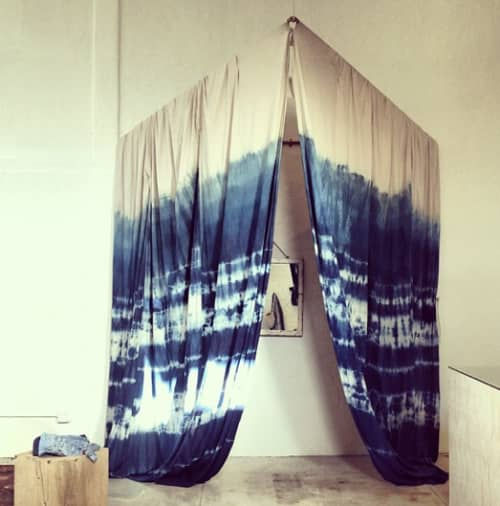 Indigo Shibori Dressing Room | Wall Hangings by Lookout and Wonderland | General Store - Venice in Los Angeles