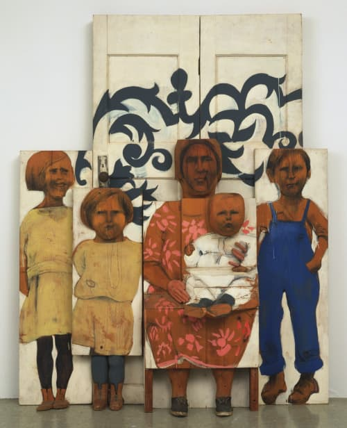 Sculptures by Marisol Escobar at MoMA (Museum Of Modern Art), New York - The Family