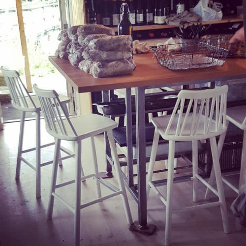 ZigZag Bar Stool   Chairs by Hans K   Hörte Brygga in Skurup S