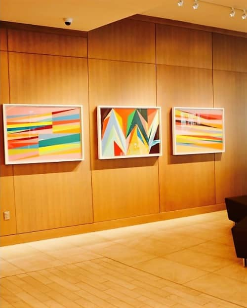 Expand, Flashpoint and Windows   Paintings by Odili Donald Odita   The ART, a Hotel in Denver