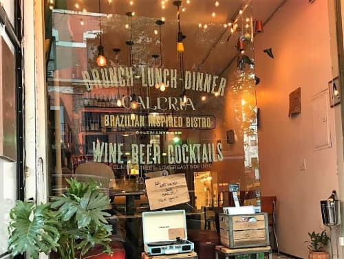 Signage by Ancient Art seen at Galeria - Art, Food, Drinks, New York - Hand Paint Sign