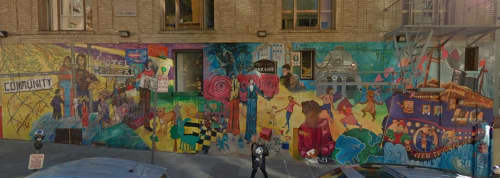 Murals by Cory Calandra Devereaux at Lutheran Social Services, San Francisco - The Gift You Take