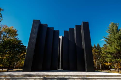 Public Sculptures by Armand Vaillancourt at Michel Chartrand Park, Longueuil - La Force Ouvrière