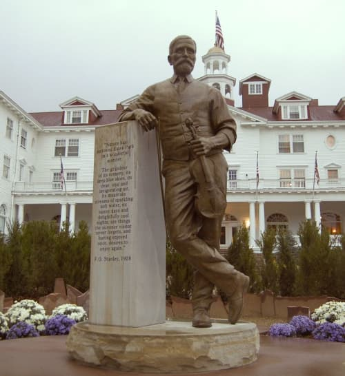 Public Sculptures by Sutton Betti seen at The Stanley Hotel, Estes Park - The Visionary