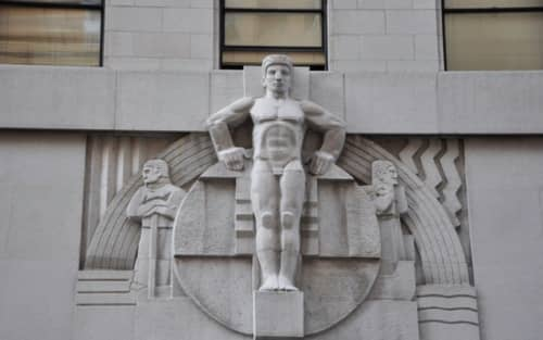 Man Sculpture | Sculptures by Ralph W. Stackpole | Stock Exchange Tower, Pacific Coast in San Francisco