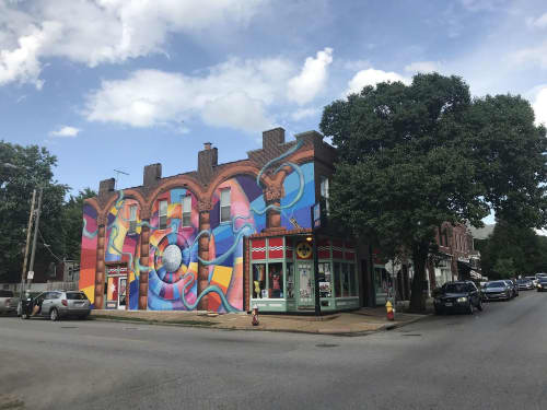 """""""Nothing Impossible"""" mural   Murals by Liza Fishbone   STL Style House in St. Louis"""
