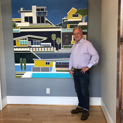 Paintings by Lisa Ashinoff seen at Davis Ad Agency - Virginia Beach, VA, Virginia Beach - Tomsom