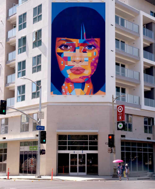 Next   Murals by Samuel Rodriguez aka Sam Rodriguez   Next on Sixth Apartments in Los Angeles