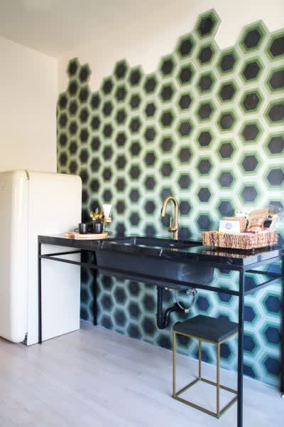 Kismet Tile - Hex #8 | Tiles by Kismet Tile | Hotel Covell in Los Angeles