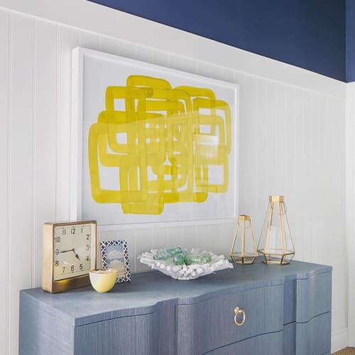 Paintings by Katie Brennan seen at Private Residence, San Diego - Emblems - Yellow