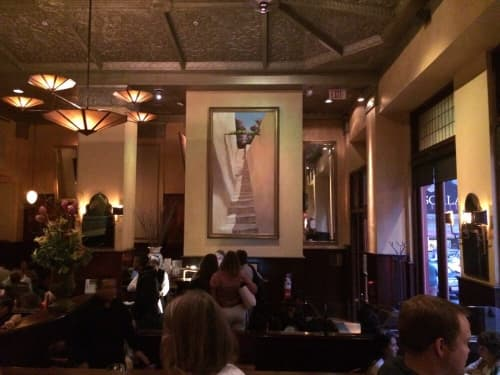 Murals by Evans & Brown at Scala's Bistro, San Francisco - Mural Staircase to Nowhere