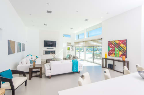 Paintings by Ryan Campbell seen at The Polo Villas, La Quinta - Line Segments