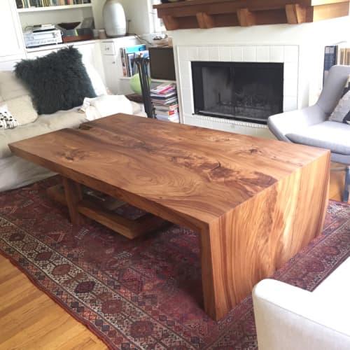 Tables by Ghostown Woodworks by Rusty Dobbs at Private Residence, Berkeley Hills, Berkeley, CA, Berkeley - Custom Coffee Table