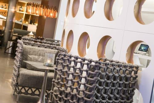 Chairs by Kenneth Cobonpue seen at Renaissance Edmonton Airport Hotel - Alberta, Canada, Nisku - Cabaret Lounge Chair