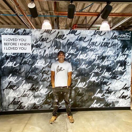 Love Lululemon LA Mural | Murals by Ruben Rojas | lululemon in Santa Monica