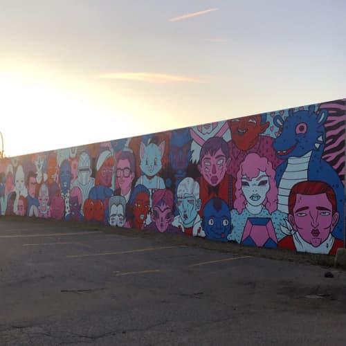 Street Murals by Uptown Murals seen at Christman Plumbing & Heating, Kelowna - Mural