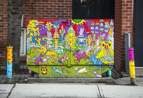 Bell Box Mural | Street Murals by AL Runt