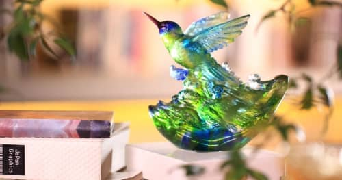 """Sculptures by Lawrence & Scott seen at Lawrence & Scott, Seattle - Humming Bird """"Victory by Daybreak"""""""