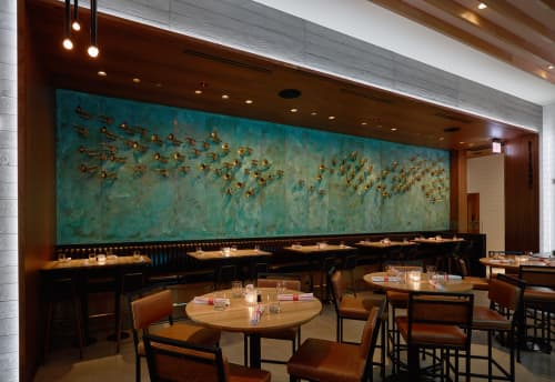 Sculptures by Ricky Alvarez seen at Earls Kitchen + Bar, Chicago, IL, Chicago - B-FLAT