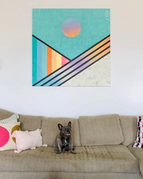 Paintings by Adrien Saporiti seen at Private Residence, Los Angeles - Commissioned Painting