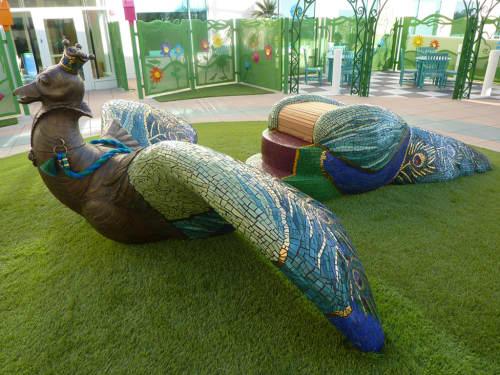 Sculptures by Kim Emerson Mosaics seen at Rady Children's Hospital - San Diego, San Diego - Marisa The Magical Bird