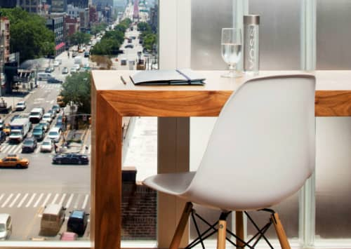 Chairs by Charles and Ray Eames seen at The Nolitan Hotel, New York - Eames Plastic Side Chair DSW